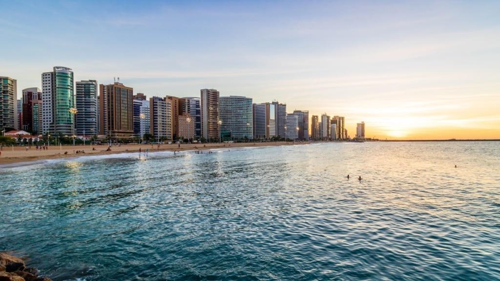 Strand in Fortaleza, Brasilien