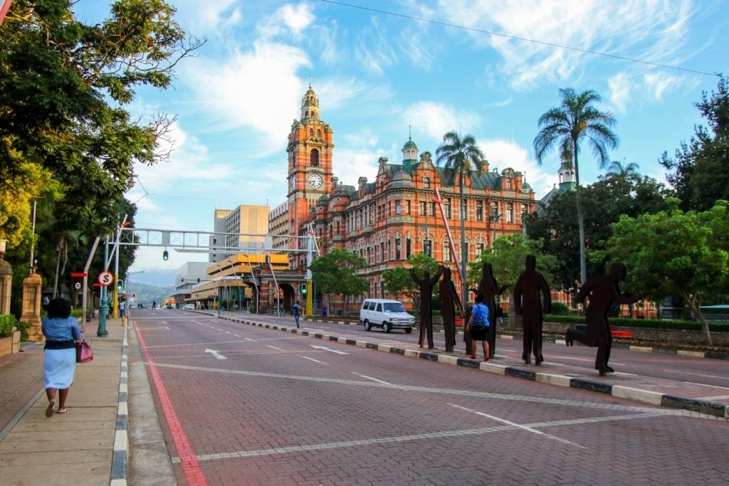 Straße in Pietermaritzburg, Südafrika