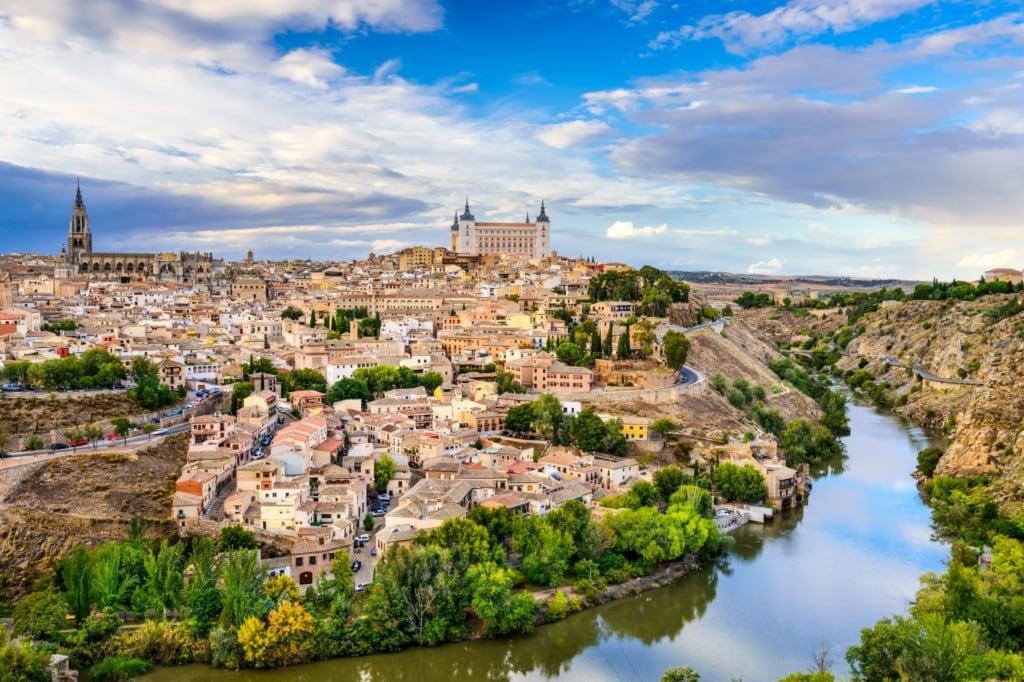 Panorama der Stadt Toledo in Spanien