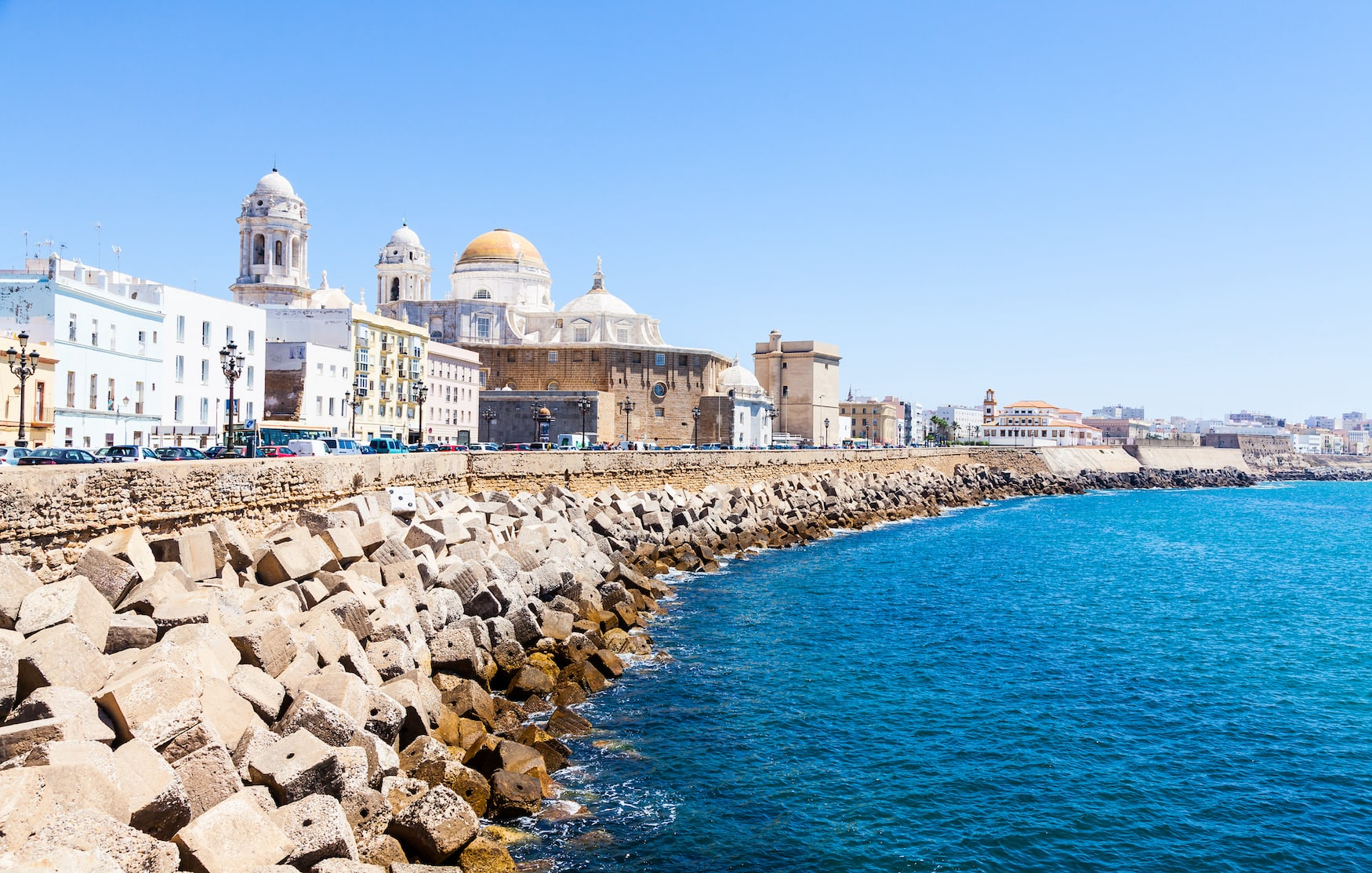 Sonniger Tag in Cadiz, Andalusien