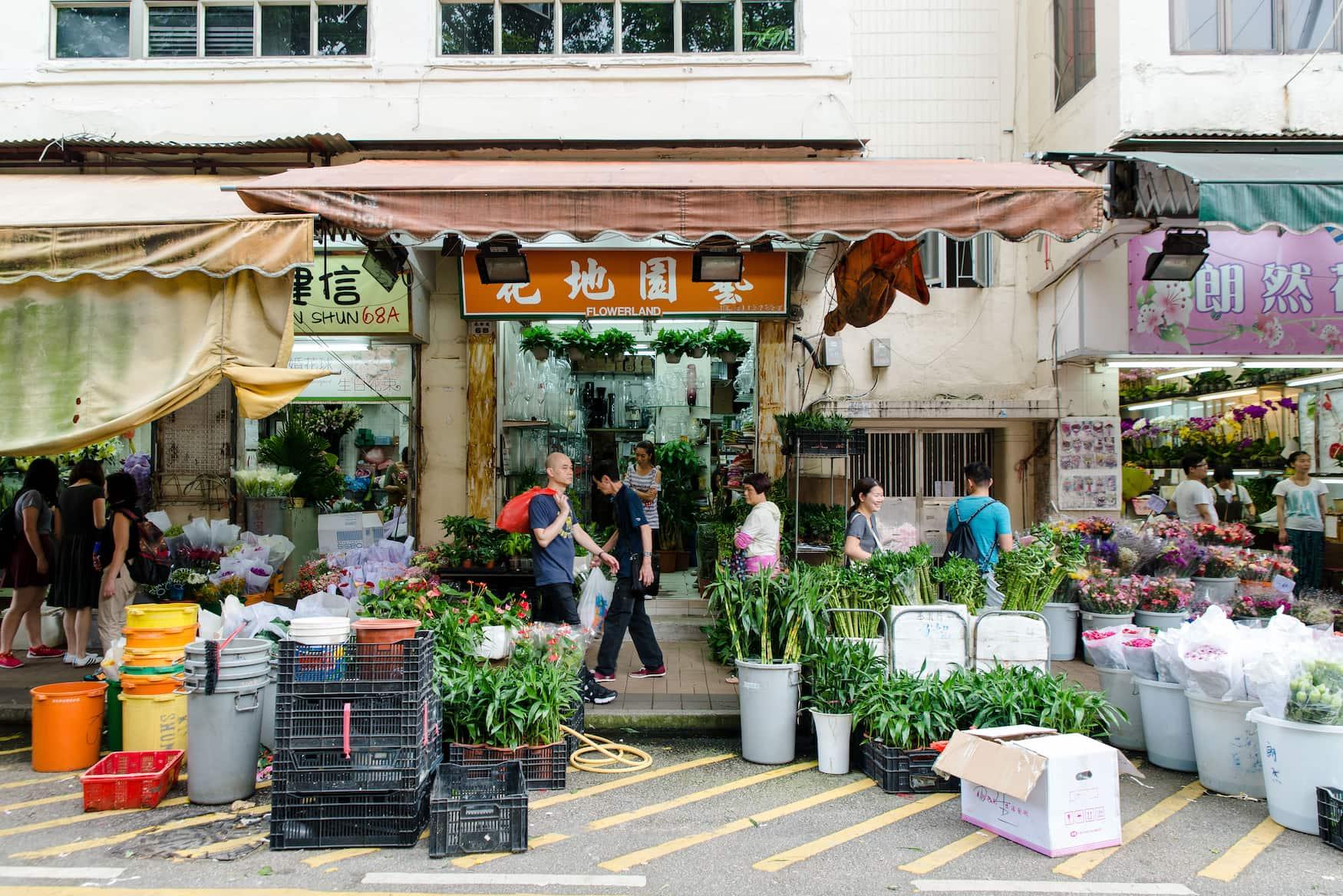 Flower Market in Hongkong