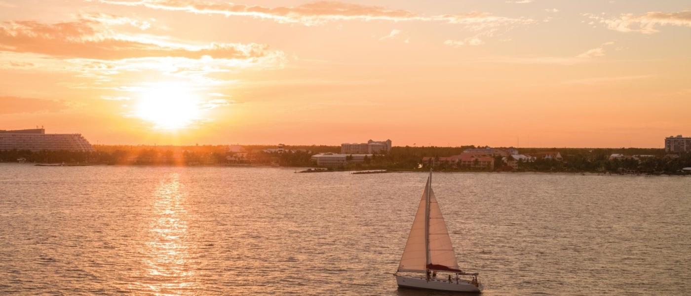 Sonnenuntergang über Freeport
