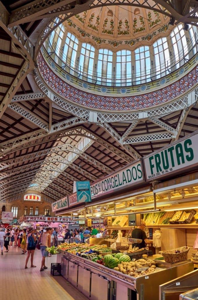 Innenbereich des Mercado Central Valencia