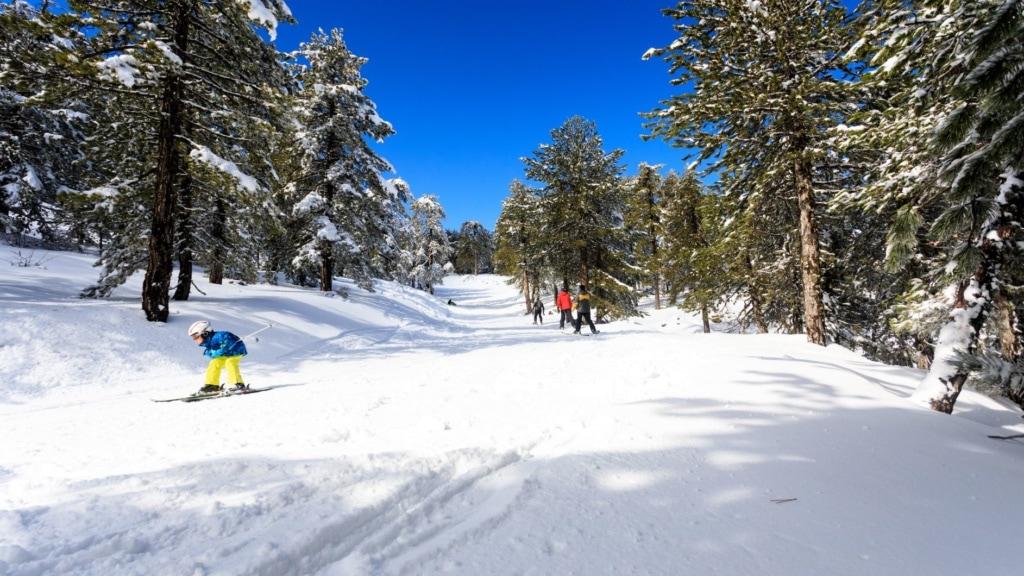Skifahrer auf Zypern