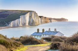 Kalkfelsen Seven Sister im South Downs Nationalpark, einer der tollsten Ausflüge in Brighton