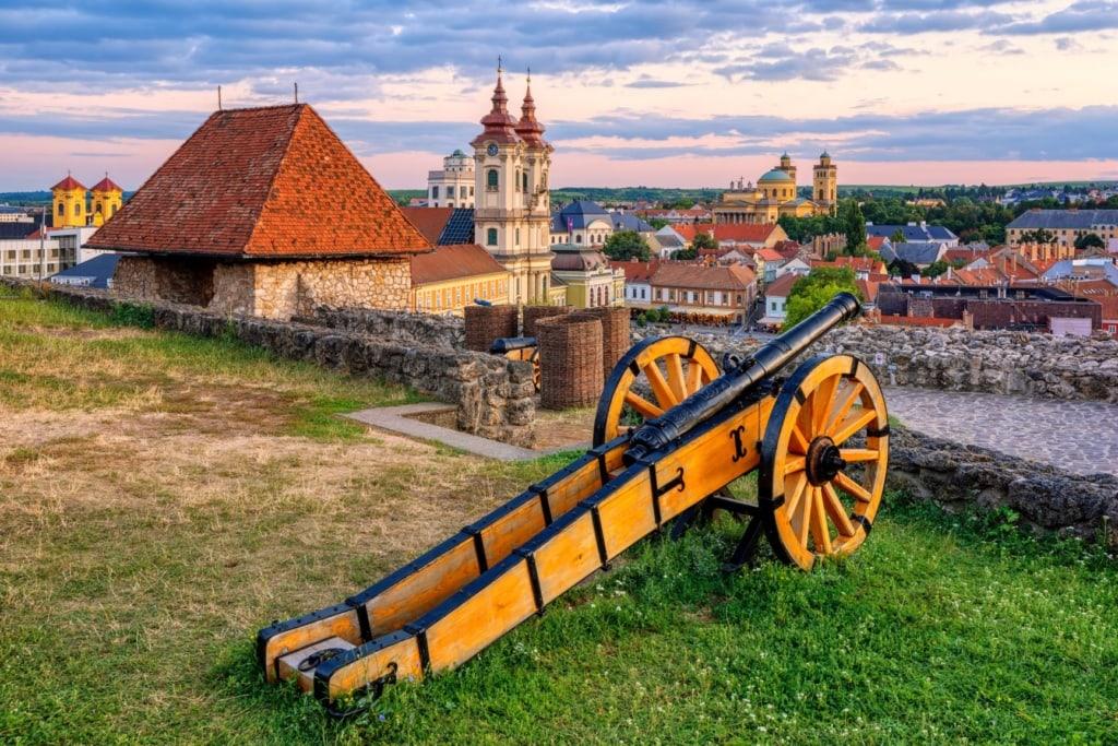 Ausblick von der Burg Eger in Ungarn