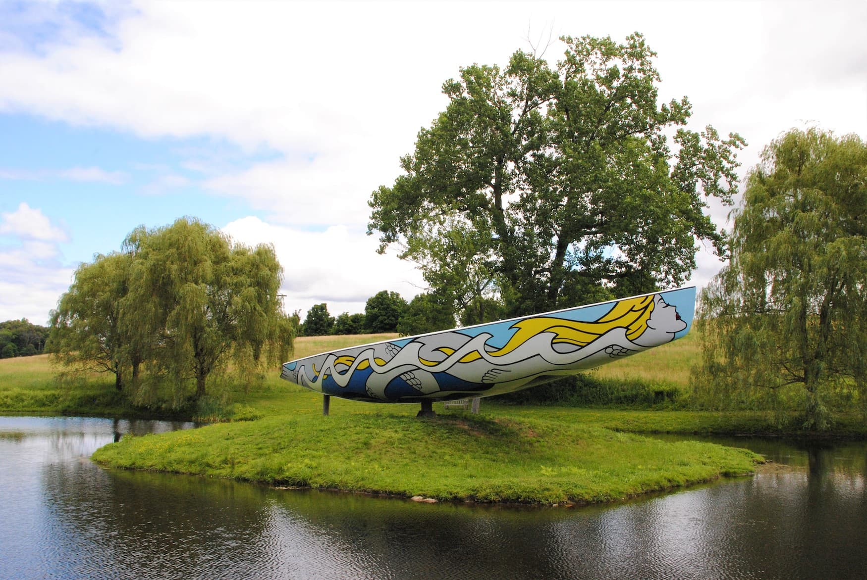 Kunst-Objekt im Storm King Art Center im Hudson Valleys