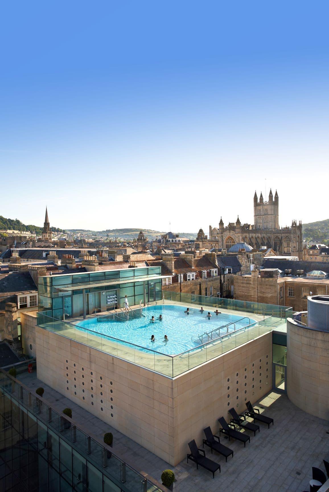 Badekultur Thermae Bath Spa in Bath, Großbritannien