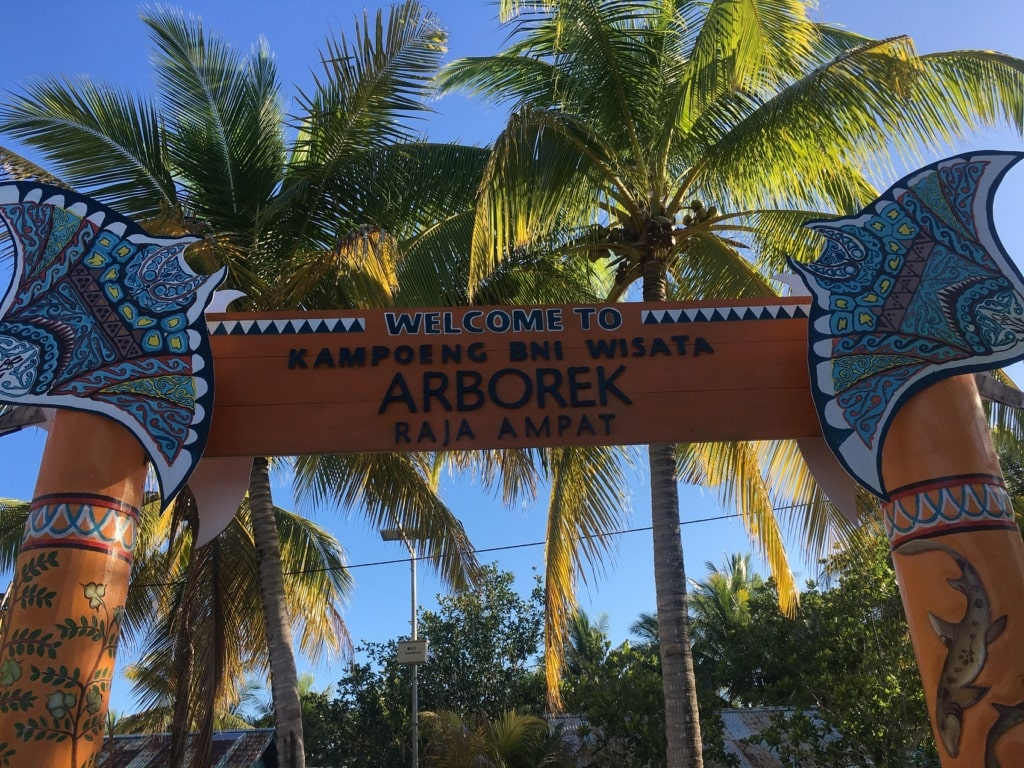 Aborek - ein Dorf in Raja Ampat.