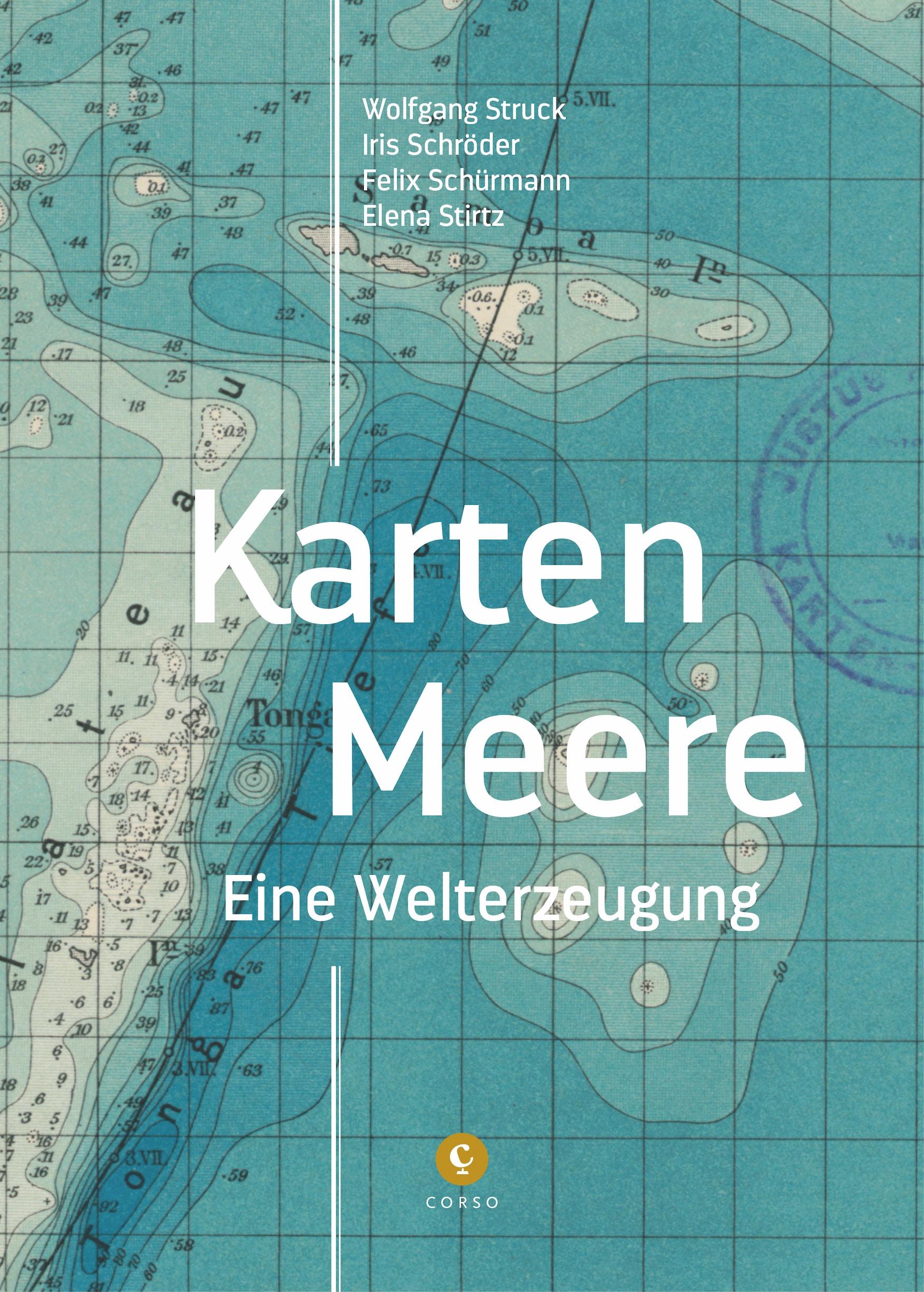 """Buchcover """"Karten Meere. Eine Welterzeugung"""""""