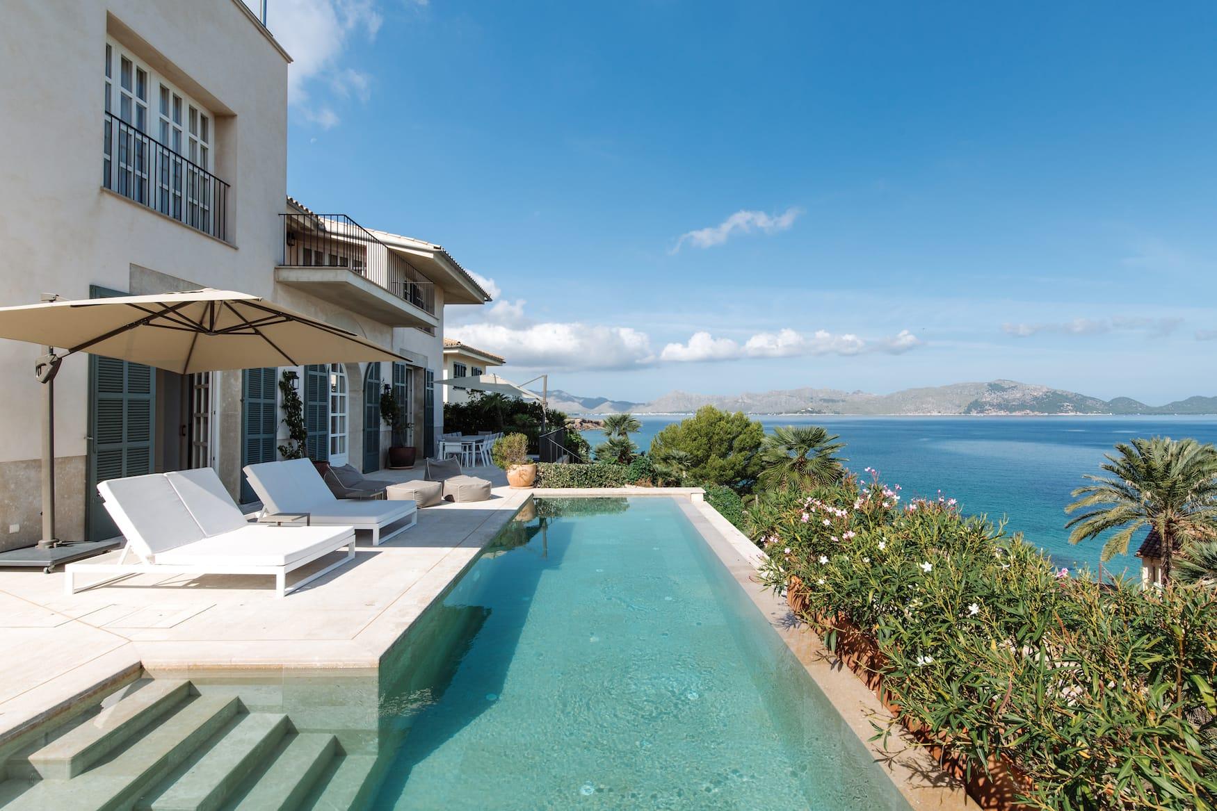 Ferienhaus auf Mallorca mit Blick übers Mittelmeer
