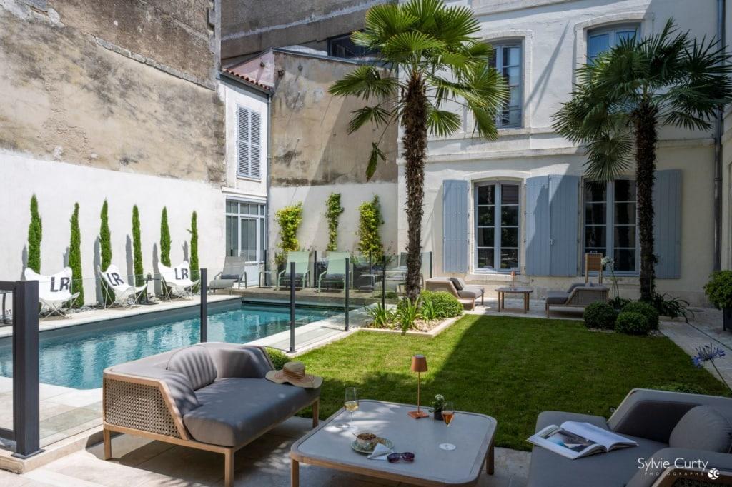 Innenhof des Villa Grand Voile in La Rochelle