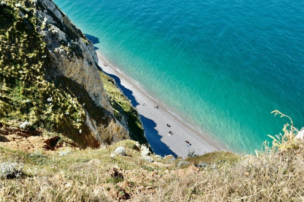 Strand in Etretat in Frankreich