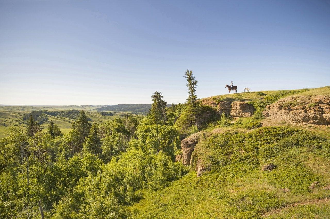 Aussichtspunkt in den Cypress Hills in der kanadischen Provinz Saskatchewan