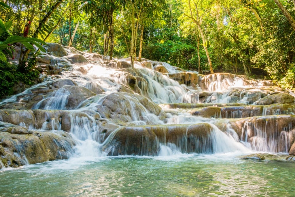 Dunn's River Wasserfall auf Jamaika