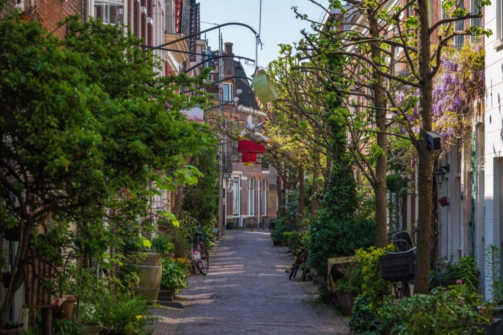 Gasse in Haarlem, Holland