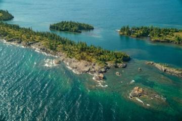 Isle Royal in Michigan aus der Vogelperspektive