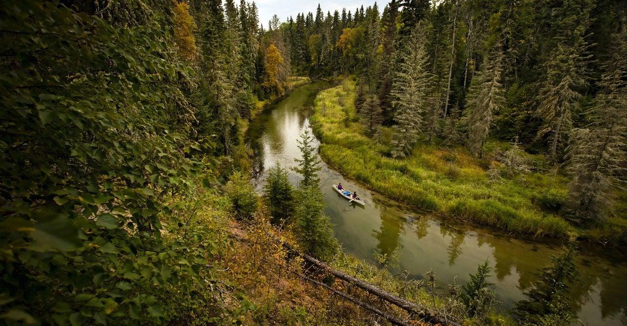 Kanufahrt durch den Prince Albert Nationalpark in Saskatchewan