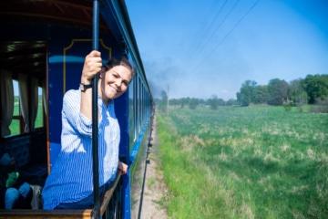 Kronprinzessin Victoria unterwegs mit dem Zug durch Schweden