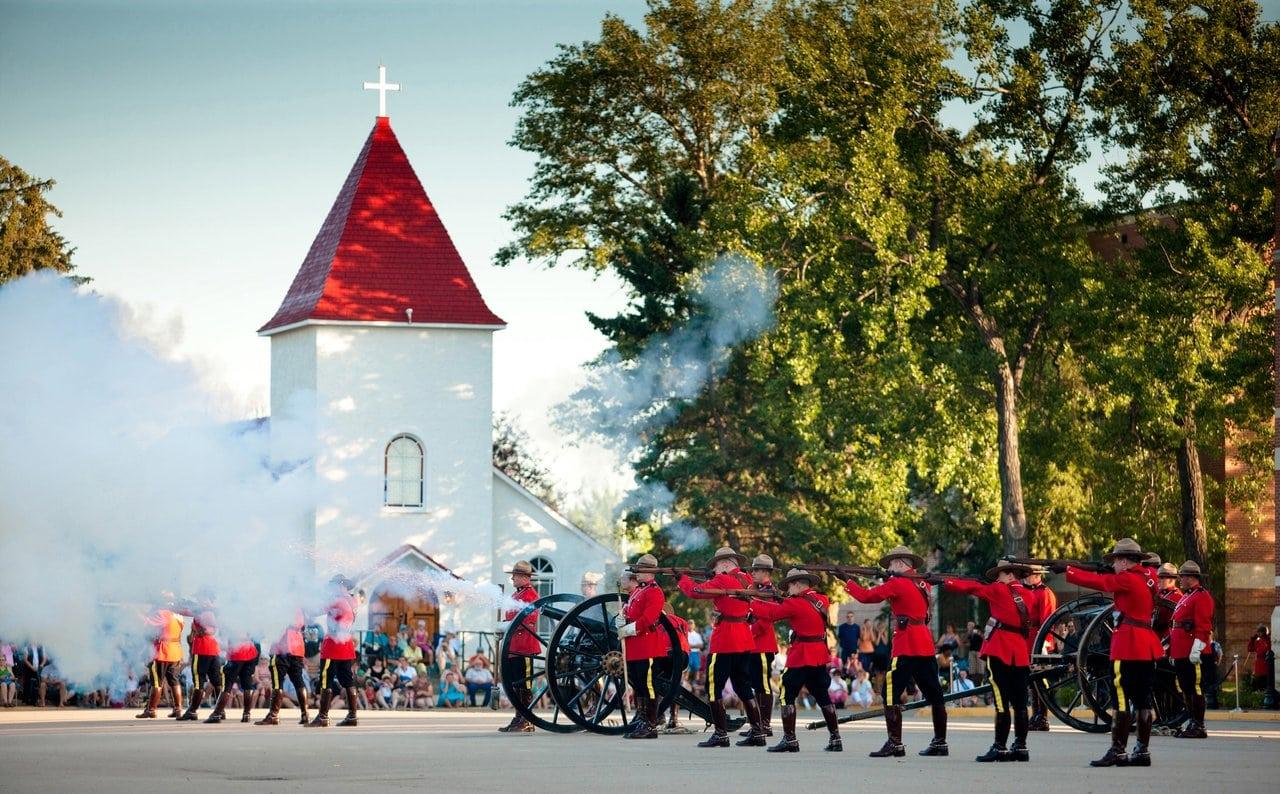 Das einzige Ausbildungszentrum für den Nachwuchs der Royal Canadian Mounted Police im RCMP Heritage Centre in Regina