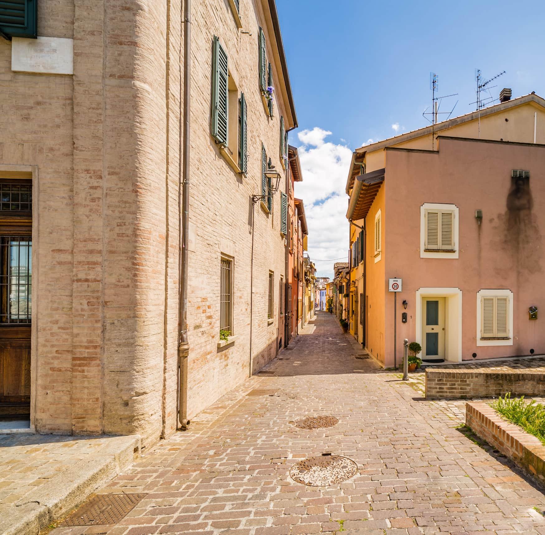 Kleine Straßen im Viertel Borgo San Giuliano