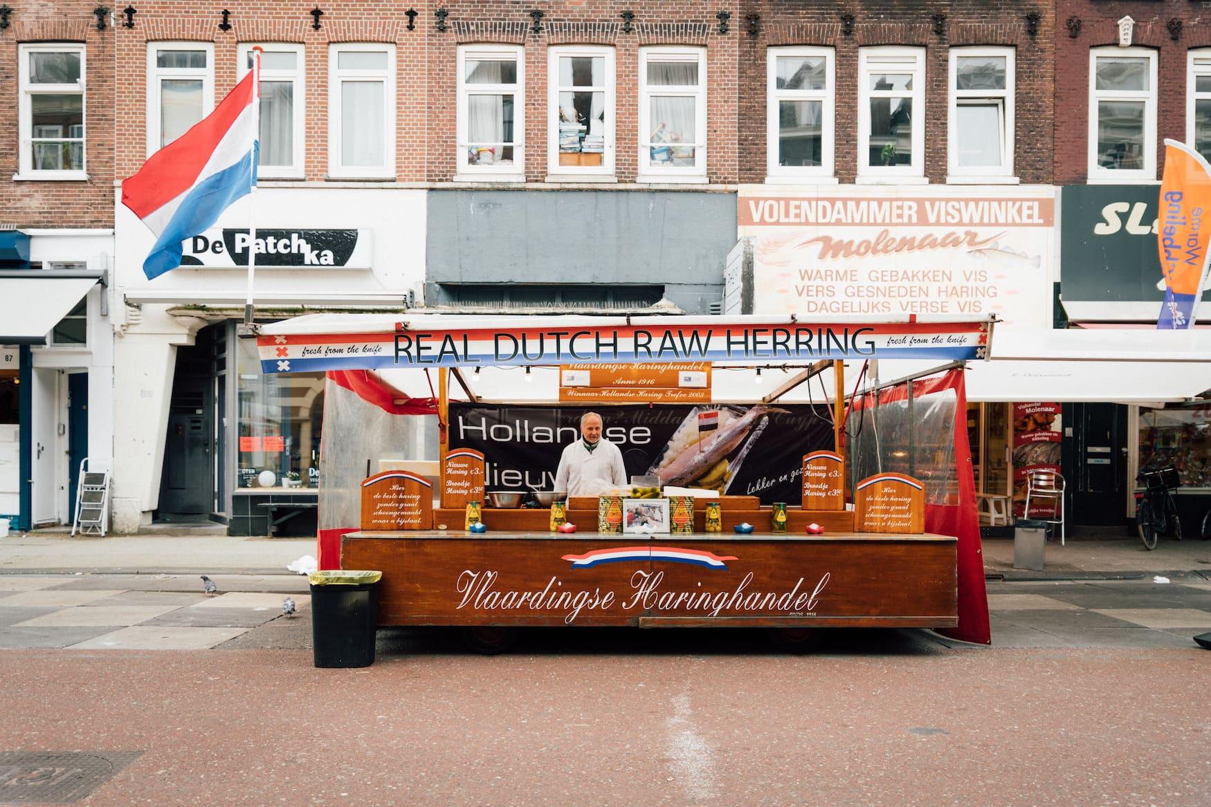 Heringstand in Amsterdam