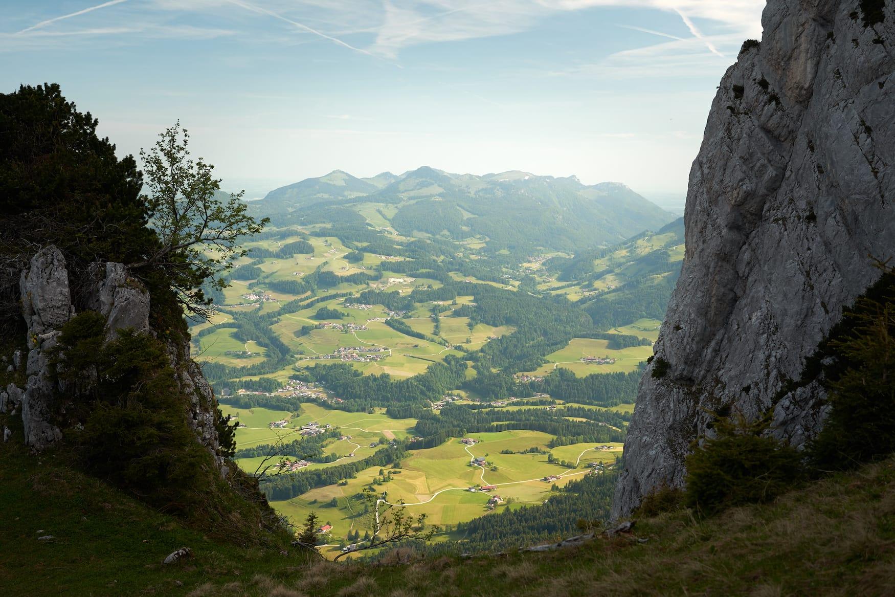 Ausblick aufs Kaisergebirge in Österreich