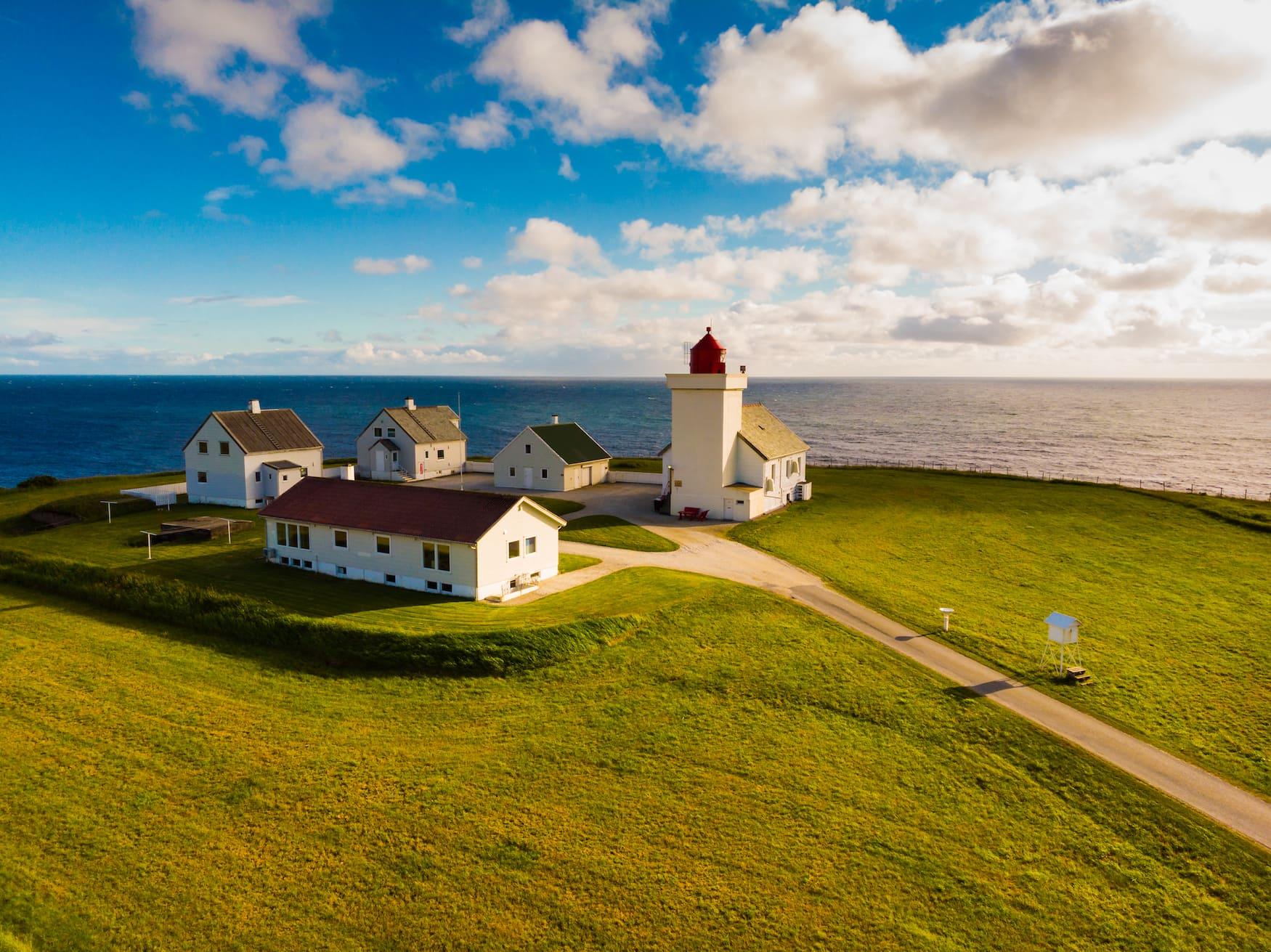 Obrestad-Leuchtturm vor norwegischer Küste