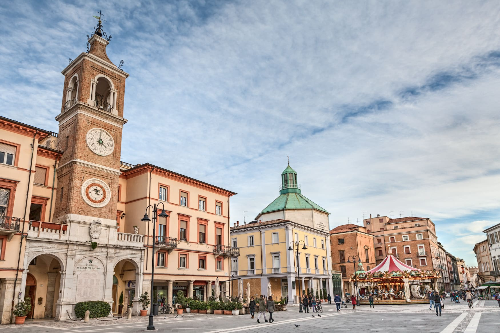 Altstadt von Rimini in Italien