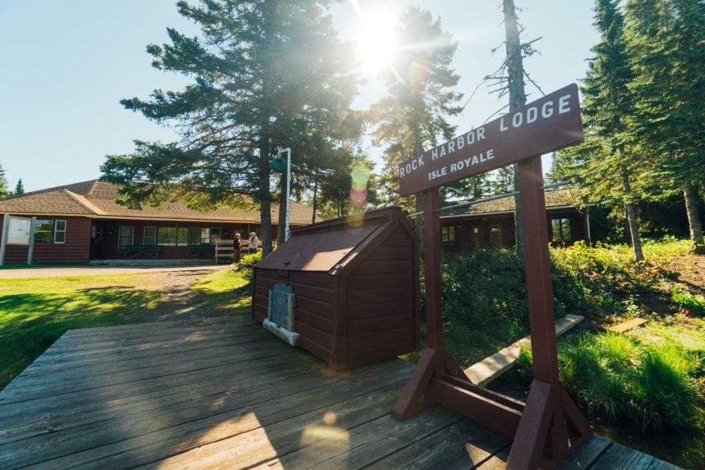 Rock Harbor Lodge auf der Isle Royale