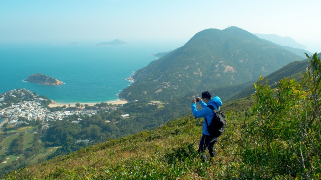 Wanderer macht Foto