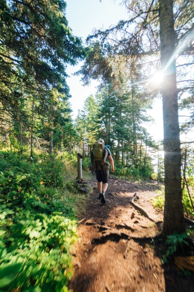Wanderer im Isle Royale National Park