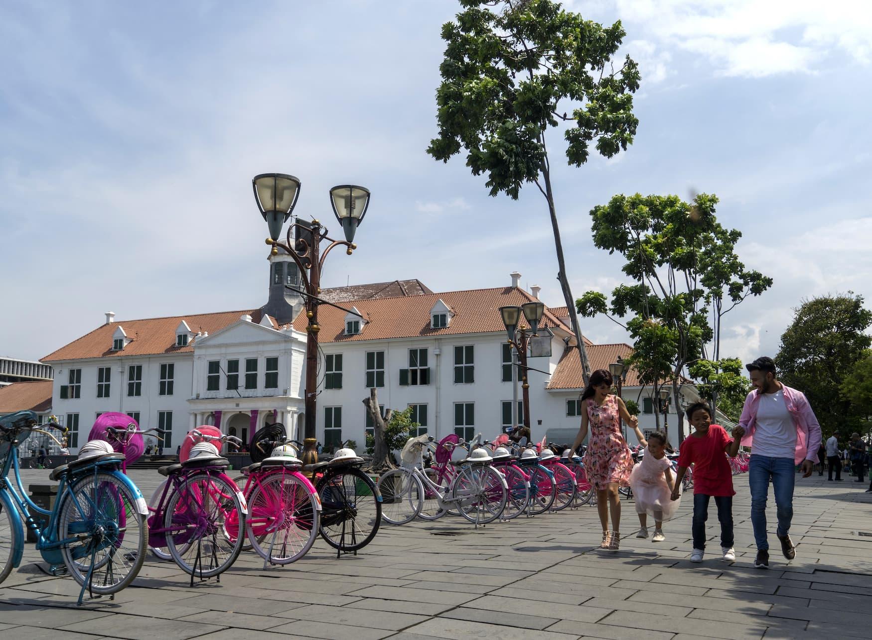 Fatahillah Platz in der Altstadt von Jakarta