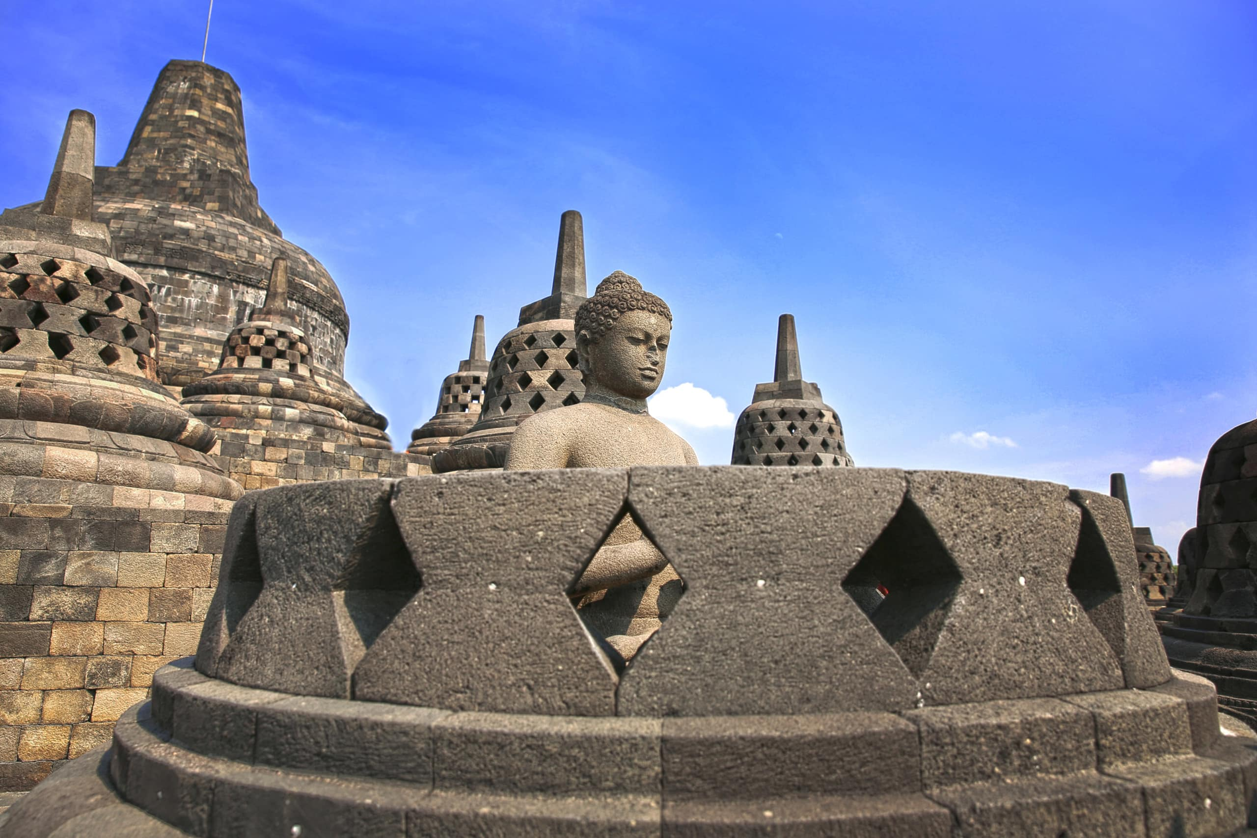 Borobudur-Tempel auf Java