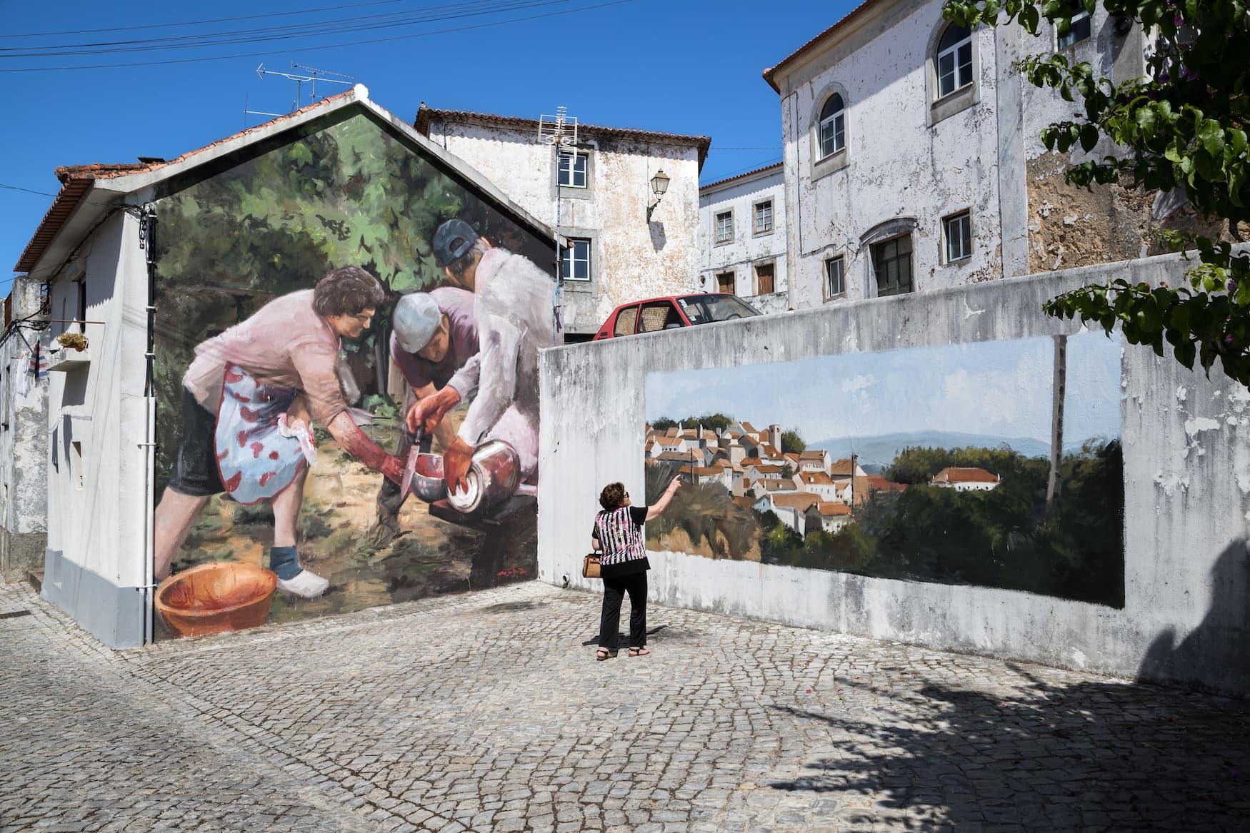 Street-Art in Figueiró Dos Vinhos von Mohamed l'Ghacham