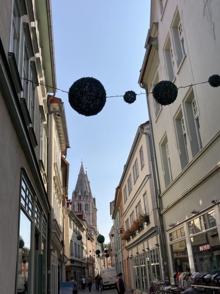 Mühlhausen ist einfach toll - am besten nächtigt man hier entlang des Unstrut-Radweges.