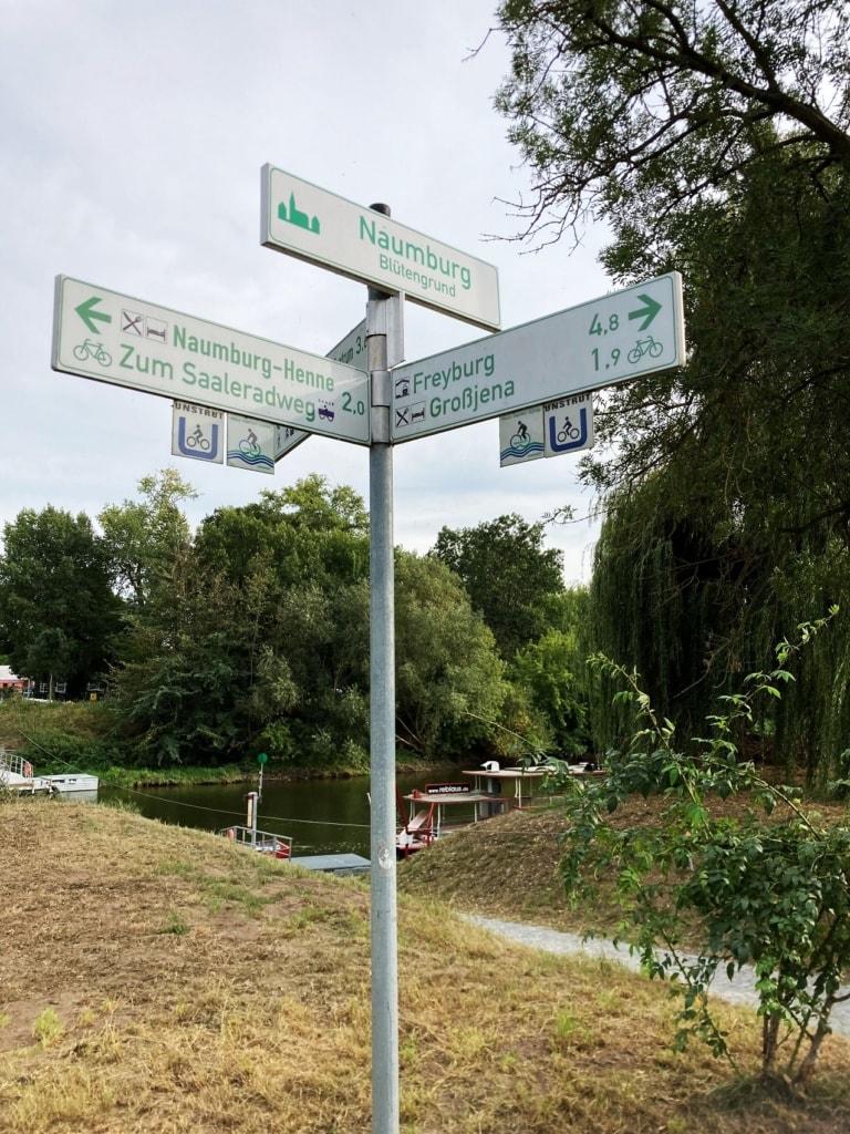 Am Naumburger Blütengrund endet der Unstrut-Radweg.