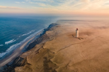 Leuchtturm Rubjerg Knude in Dänemark
