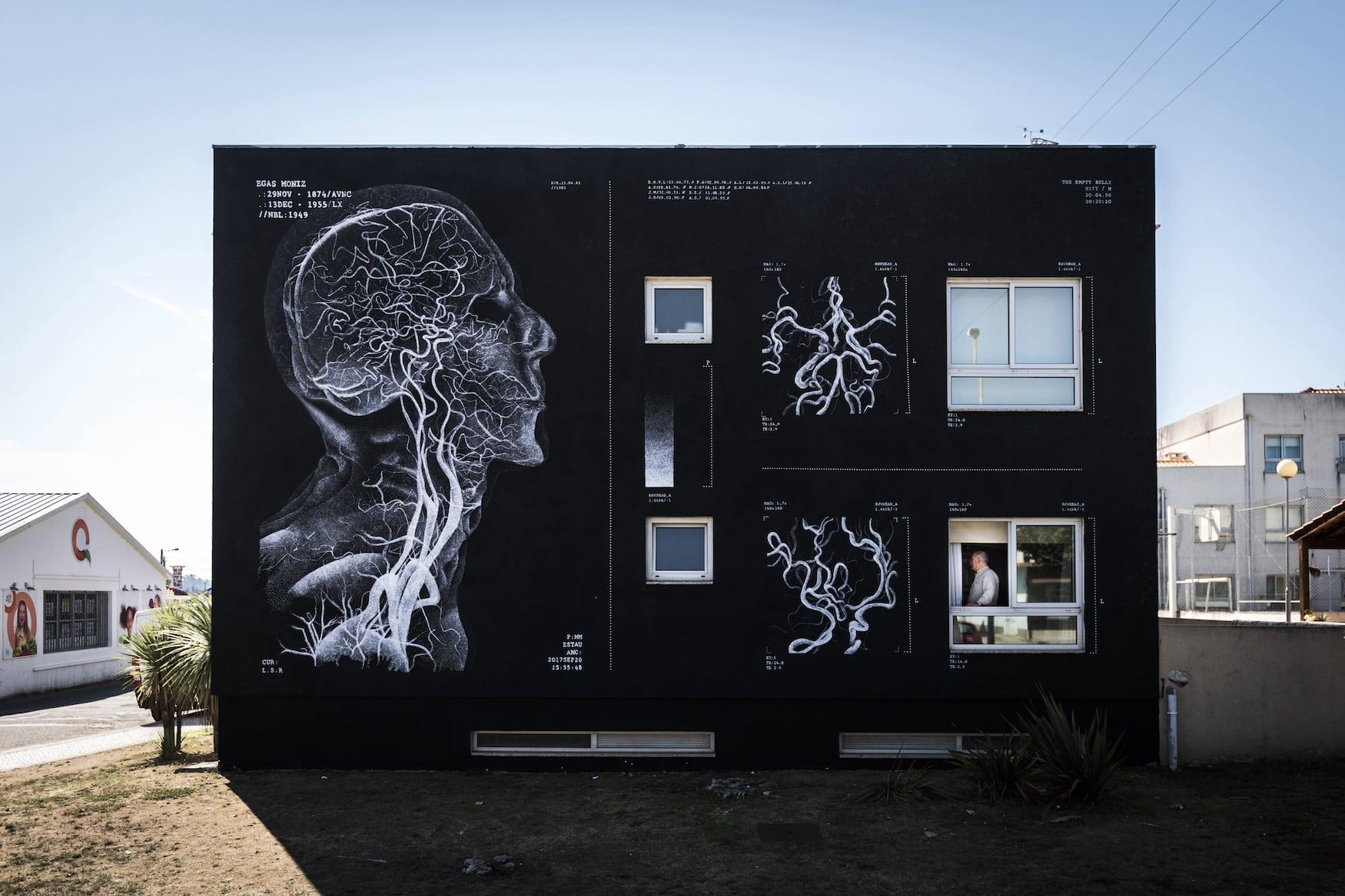 Street-Art in Avanca im Centro de Portugal
