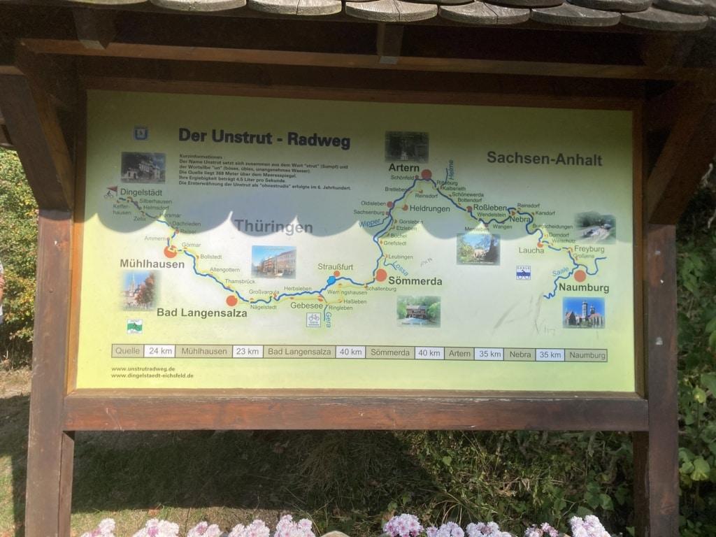 An der Quelle in Kefferhausen beginnt der Unstrutradweg.