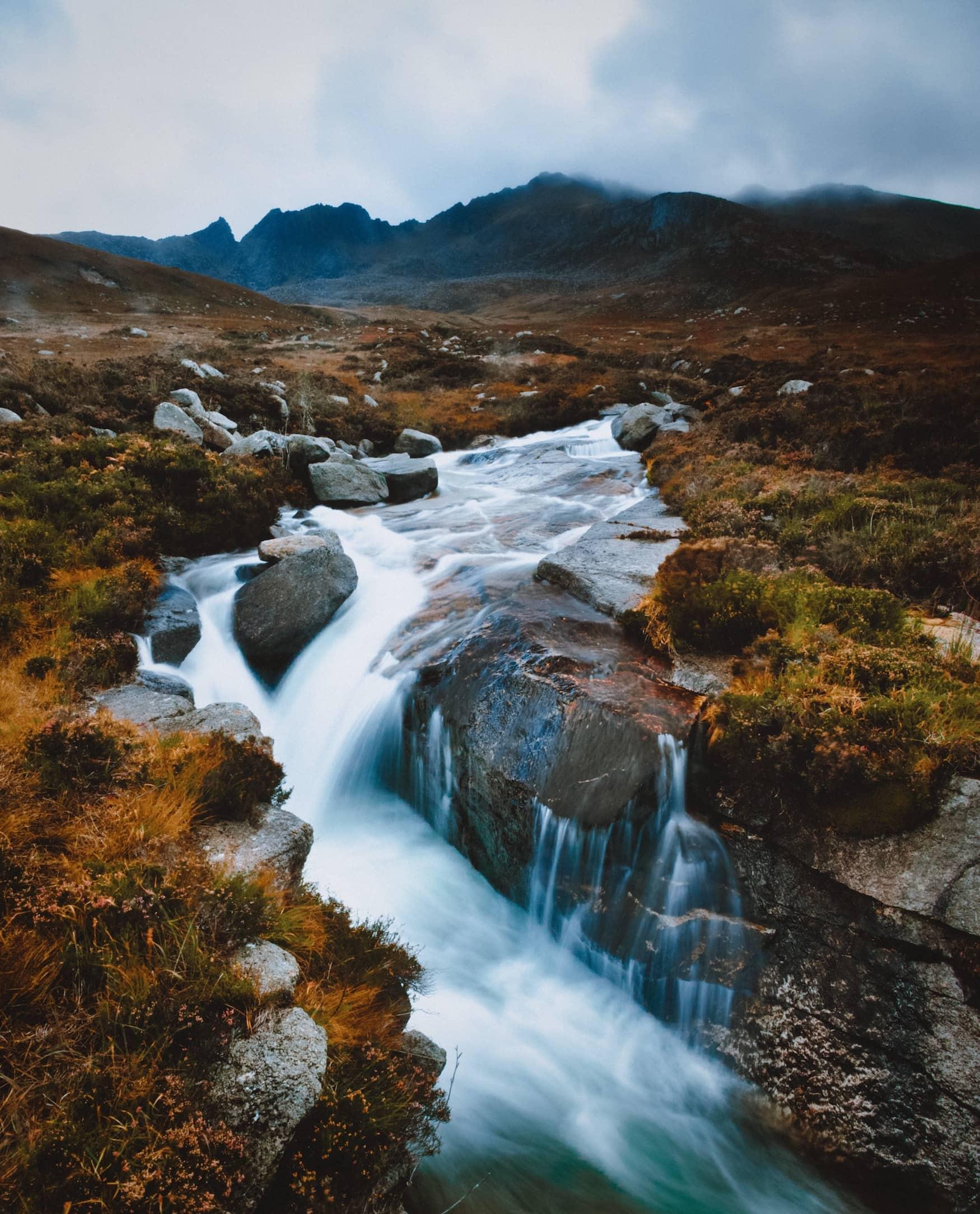 Wasserfall auf der Isle of Arran