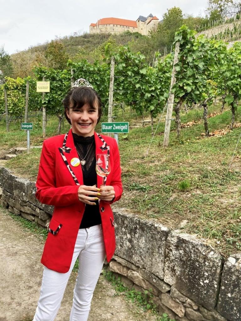 Die Weinprinzessin von Freyburg.