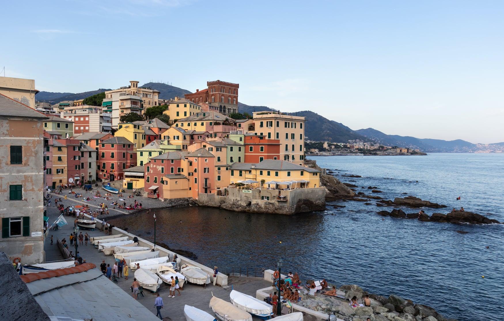Einer der schönsten Aussichtspunkte in Genua auf das Viertel Boccadesse