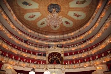 Opernsaal im Bolschoi-Theater-Theater in Moskau