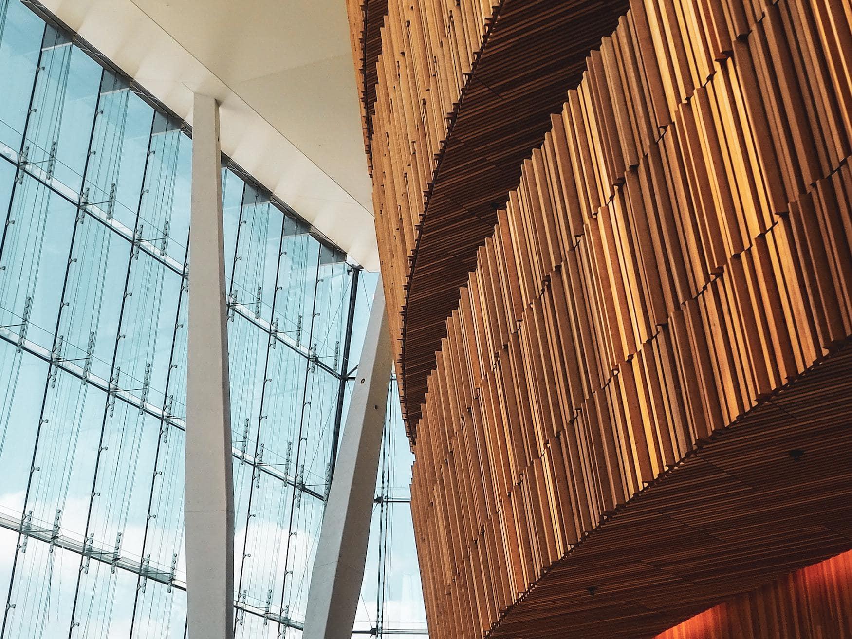 Interior-Details in der Oper in Oslo