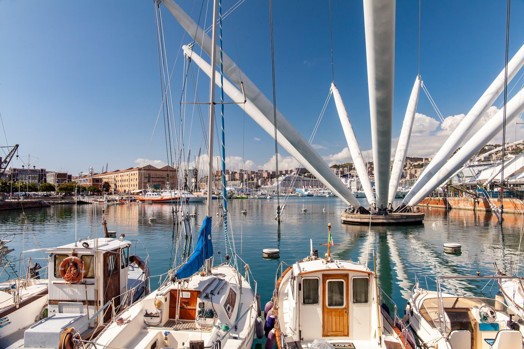 Porto Antico, der umgebaute Hafen mit Fischerboten