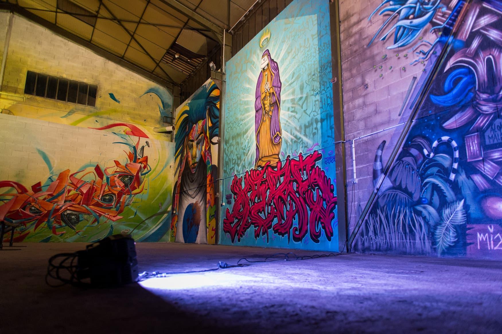 Straßenkunst der Künstlerin Xerou