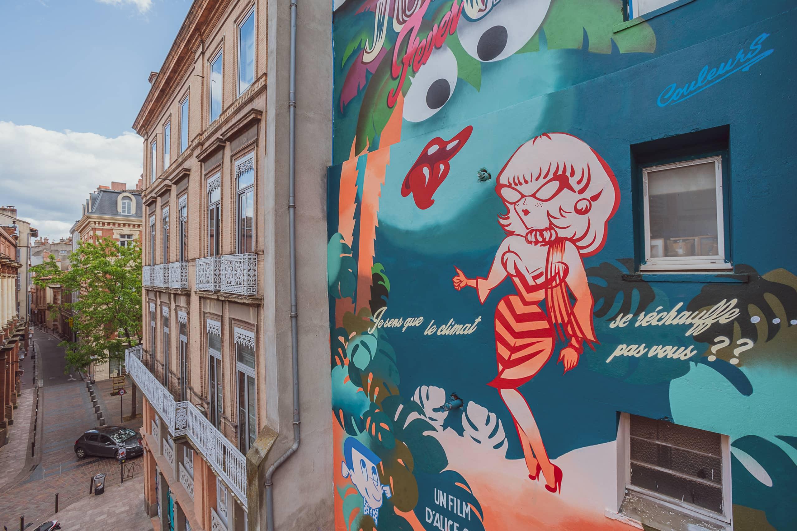 Straßenkunst in Toulouse der weiblichen Künstlerin Mlle Kat