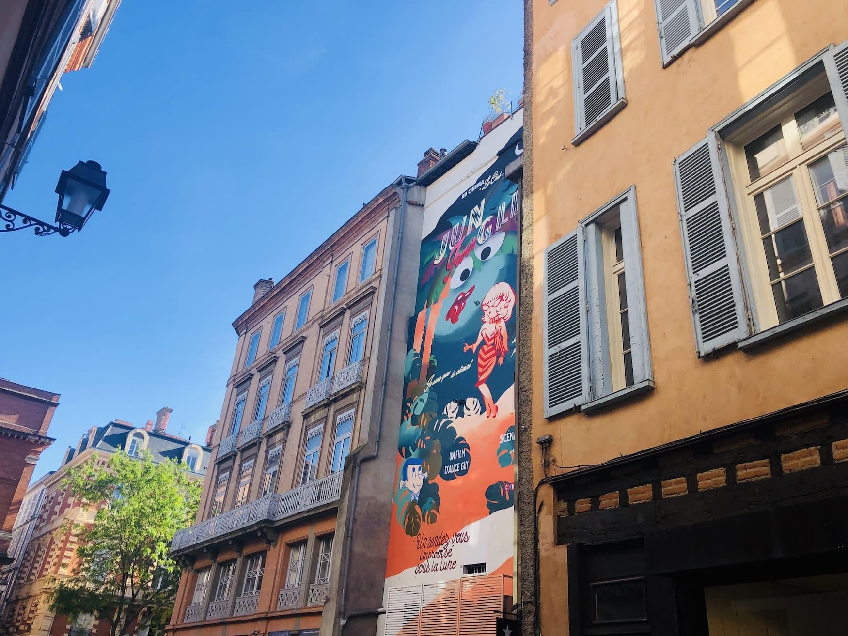 Street Art der Künstlerin Mlle Kat in Toulouse
