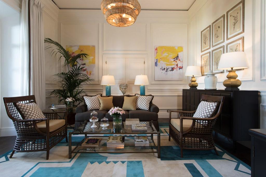 schön eingerichtete Suite in der Villa Igiea